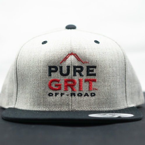 Light Gray Snapback Hat
