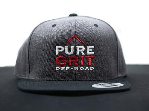 Dark Gray Snapback Hat