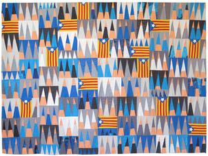 "Peace & Freedom, Barcelona 2020   48""w x 65""h"