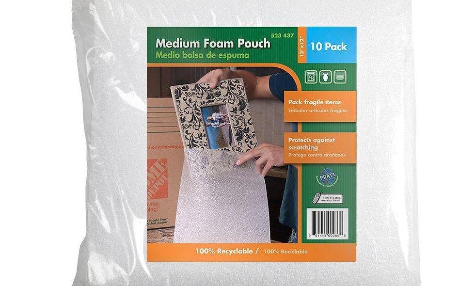 "Foam Pouches (10-Pack, 12"" x 12"")"