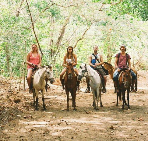 horseback riding with Guillermo
