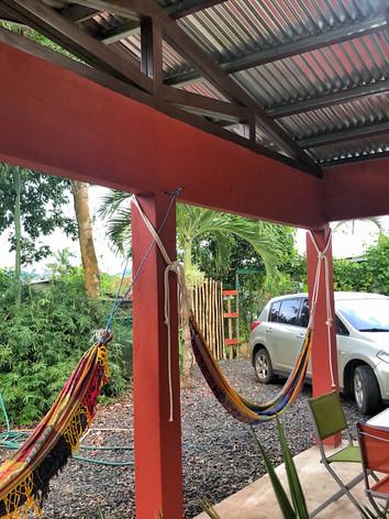 hammocks in the entrance