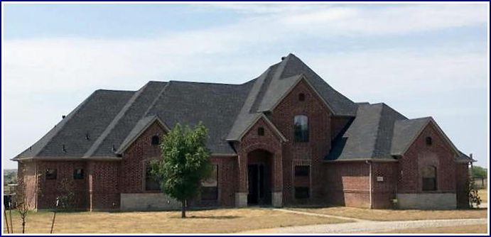 black composite architectural shingle roof