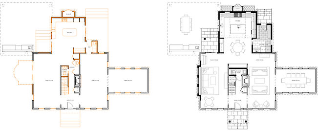 Existing VS Proposed first floor plan