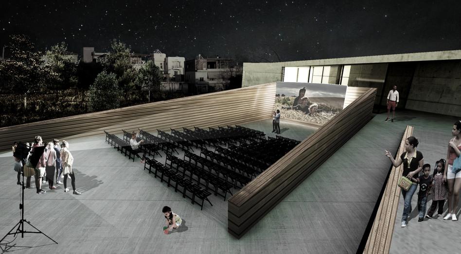 Exterior rendering - open air cinema