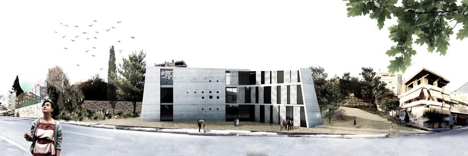 Exterior rendering - rear