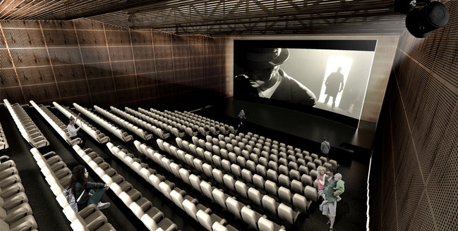 Interior rendering - screening room