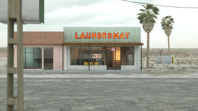 Arrival at the Laundromat