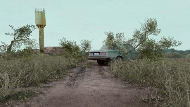 Abandoned car scene