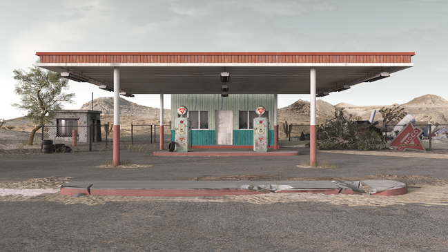 The old gas station