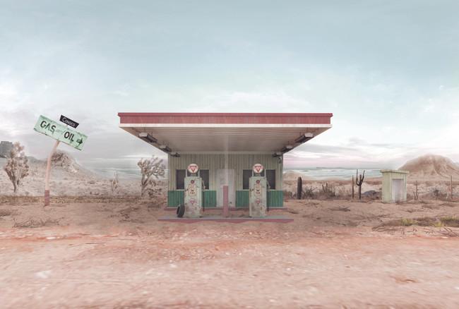 Gas station scene