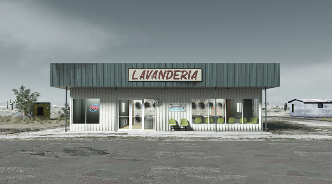 Laundromat exterior