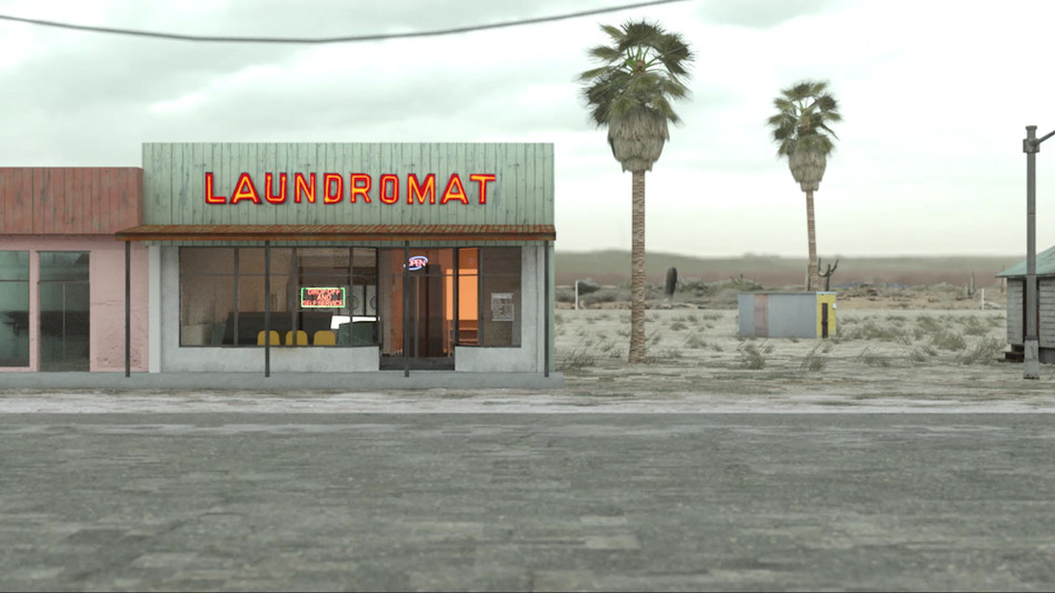 Arriving to the Laundromat