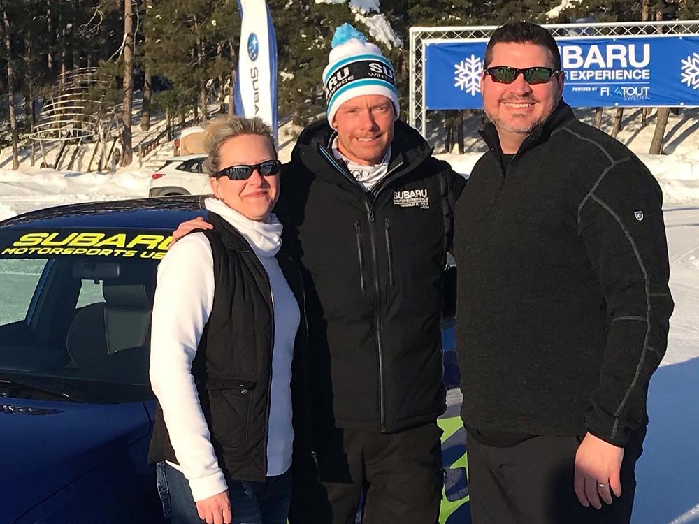 Christine Hill, Patrik Sandell and Mykel Hill enjoying the sun on Dollar Lake.