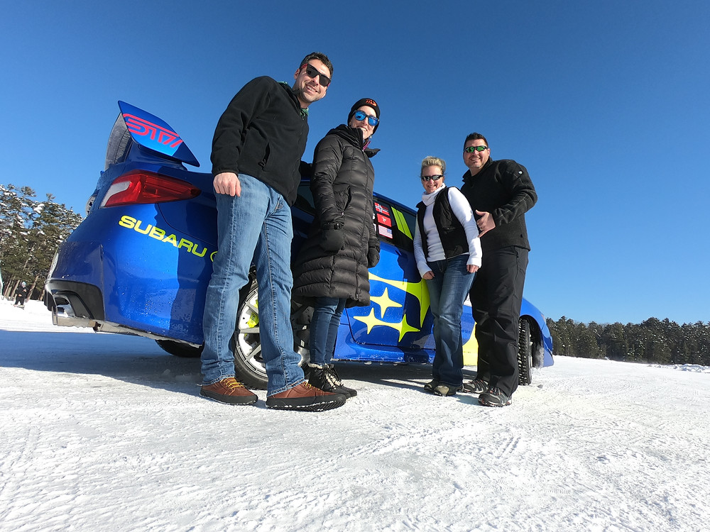 Matthieu Setliff, Britney Carter, Christine Hill and Mykel Hill during the 2019 Subaru Winter Experience.