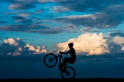 Sunset biking TREK Bikes