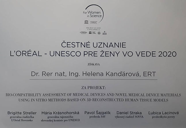 UNESCO LOREAL Women in Science 2020 Kand
