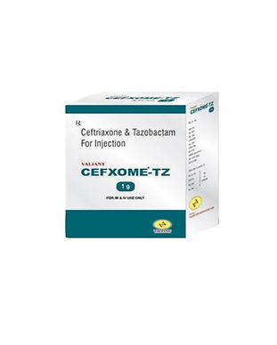 Cefxome-TZ ceftriaxone & Tazobactam injection