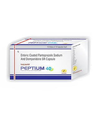Peptium 40 pantoprazole sodium & domperidone sr capsule