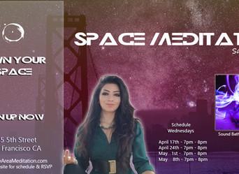 Sound Bath @SpaceMeditation Tonight! 4.17.2019
