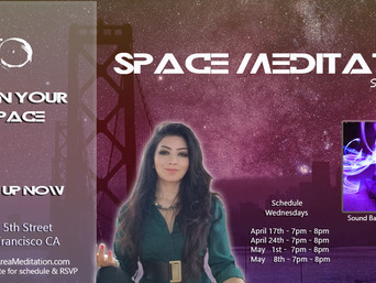 Sound Bath @SpaceMeditation Tonight! 4.17.2019