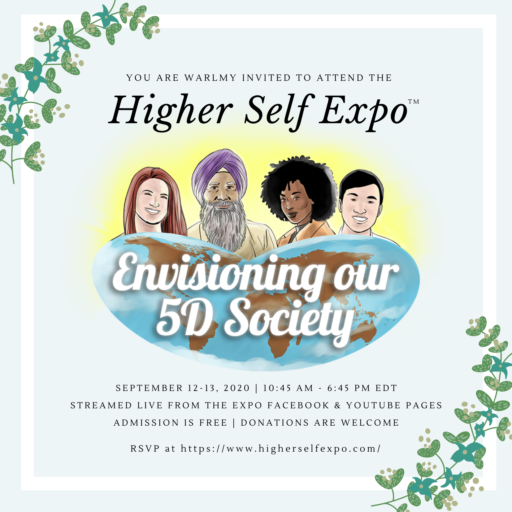 Higher Self Expo Invitation - White
