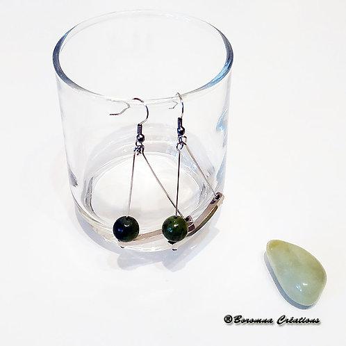 Boucles d'Oreilles Energy Jade