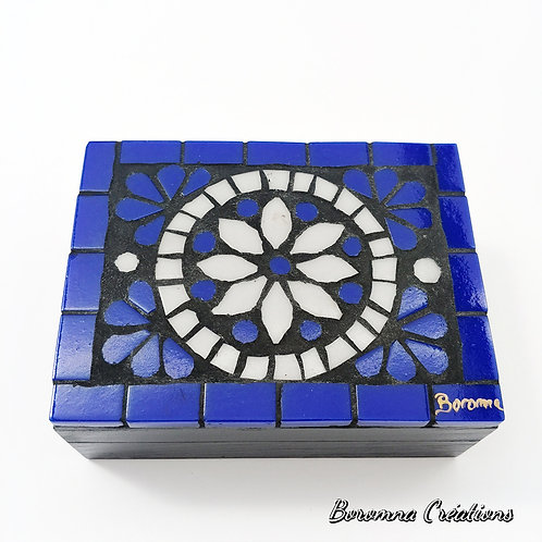 Boîte Mosaïque Bleue