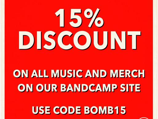 Bandcamp Friday 15% Discount