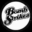 Bombstrikes logo highresbonw circle.png