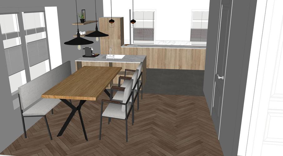 3D ontwerp keuken