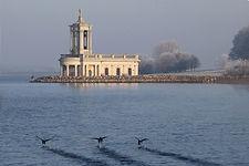 Normanton Church- Rutland Water - hoar f