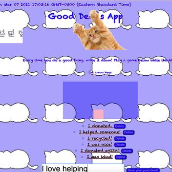 Javascript Good Deed App
