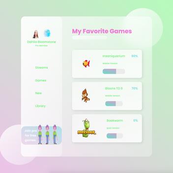 UI design - My favorite games