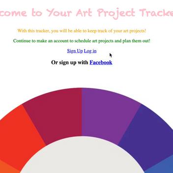 Rails - Art Project Tracker App