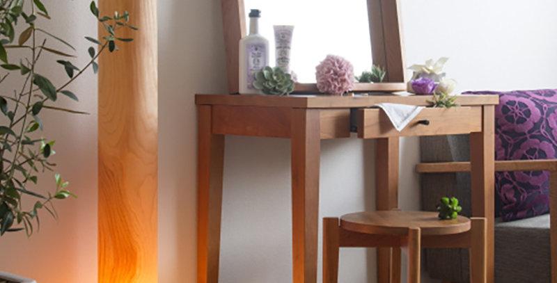 ツツ(ランプ付き) カバ桜天然木突板照明