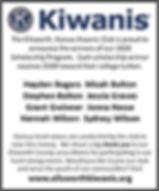 Scholarship winner advertisement EW Co I