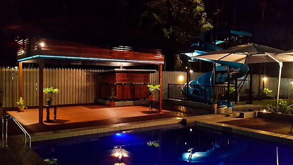 Poolside Waterslide Gazebo Masurina Lodge Alotau