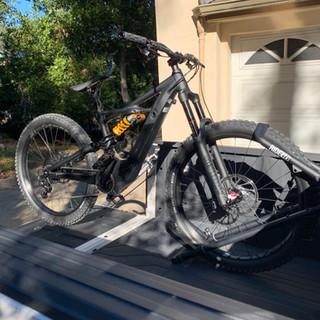E-bike Rack Mounted to Tool Box.