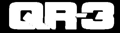 QR3 truck bike rack logo