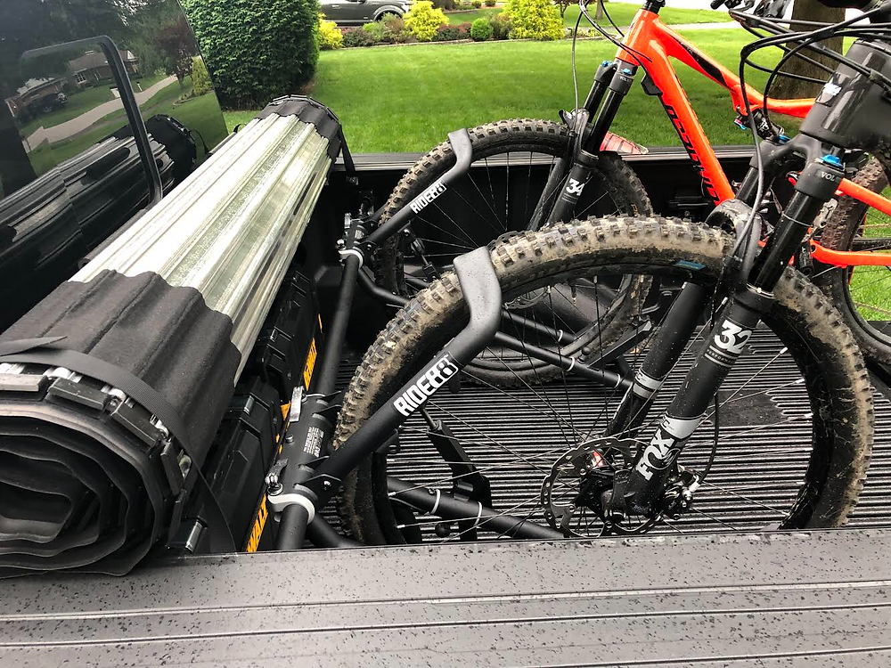 QR3 truck bed bike rack