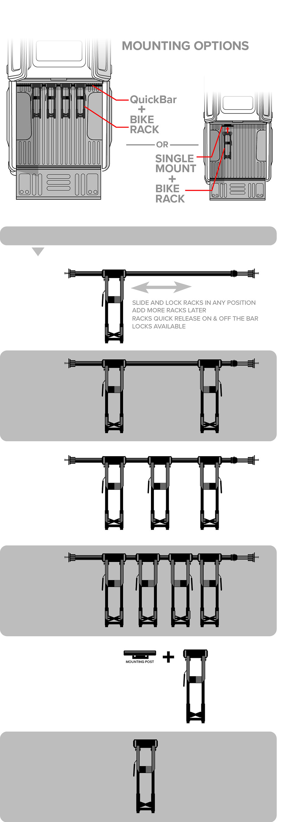 RIDE88 Truck bed bike rack mounting guide