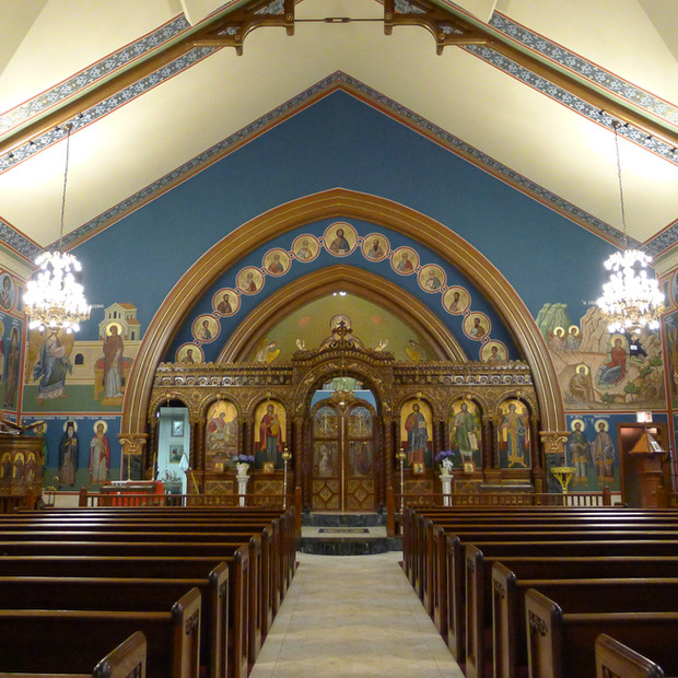St. George Greek Orthodox Church / Chicago, IL  - Mural Conservation & Interior Decorative Painting