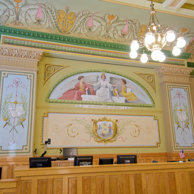 Ozaukee County Courthouse / Port Washington, WI - Courtroom Restoration