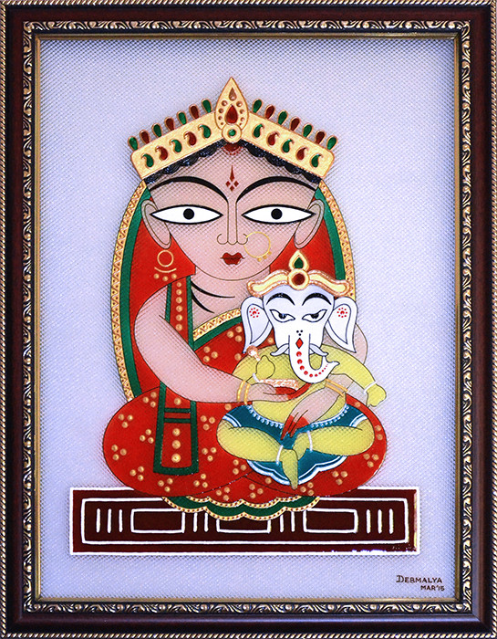 [CA203] Jamini Roy's Parvati and Ganesha