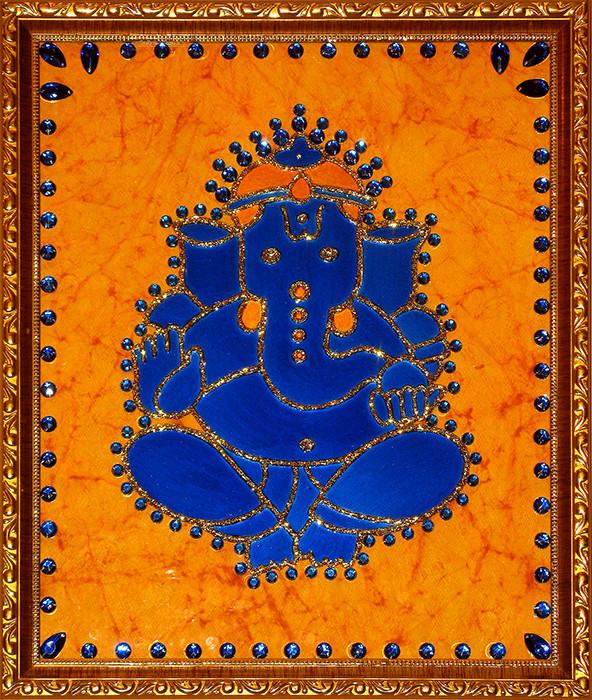[CA303] Ganesha Motif in Blue