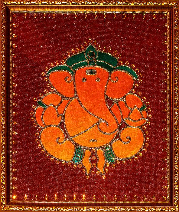[CA304] Ganesha Motif in Yellow