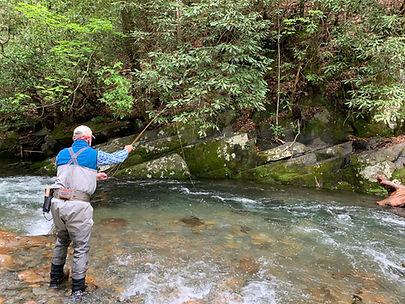 Fly fishing on Fires Creek North Carolina