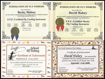 Fly Casting Certificates
