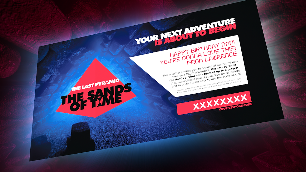 The Sands of Time : Digital Gift Voucher